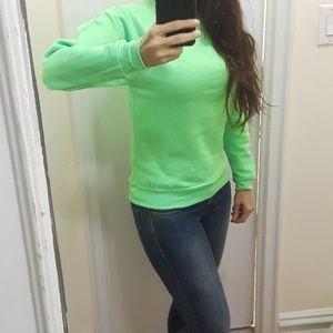 Tops - Bright Neon Green Sweatshirt NWOT